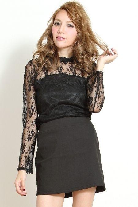 Morpheus Boutique  -   Mercuryduo Black High-neck Long Sleeve Lace Shirt,  £100.76 (http://www.morpheusboutique.com/mercuryduo-black-high-neck-long-sleeve-lace-shirt/)