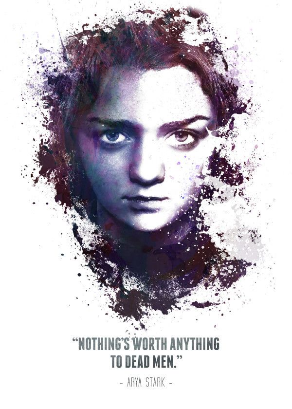 Game Of Thrones Characters Quotes Arya Stark Displate Artwork By