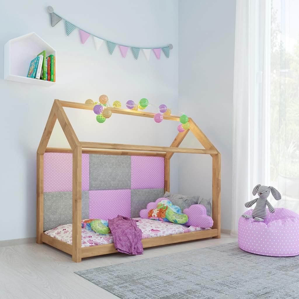 Kinderbett Kinderhaus Bett Kinder Holz Haus Schlafen Spielbett