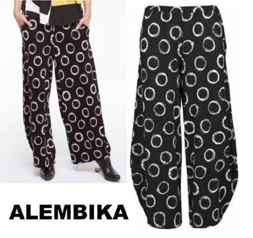 ALEMBIKA P303 Lagenlook DROP WAIST PALAZZO Pant Wide Leg  1 2 3 4 5 6 7 8  GREY