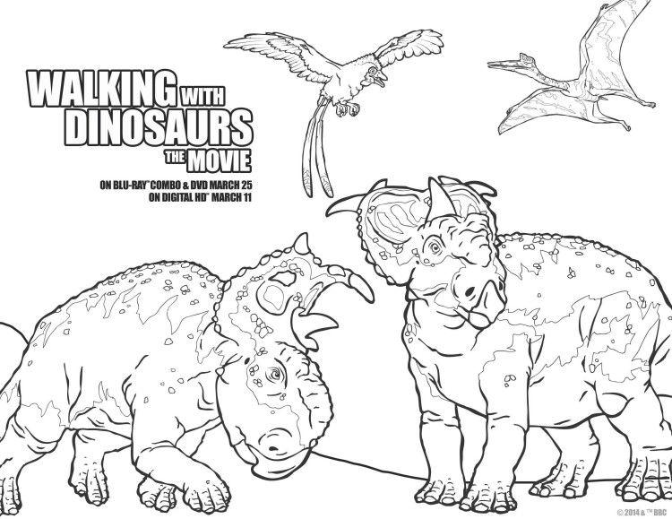 Walking With Dinosaurs Coloring Sheet For Weekend Fun WalkingwithDinosaurs