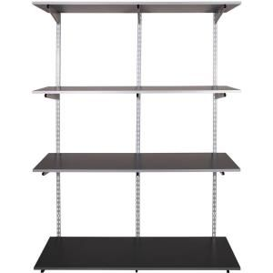 Rubbermaid 47 1 2 In Black Twin Track Upright Fg4b8800bla The Home Depot Wall Shelving Systems Shelving Shelves