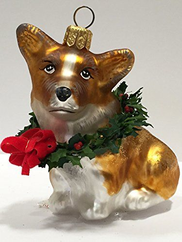 ornaments to remember corgi puppy xmas wreath christmas ornament - Corgi Christmas Ornaments