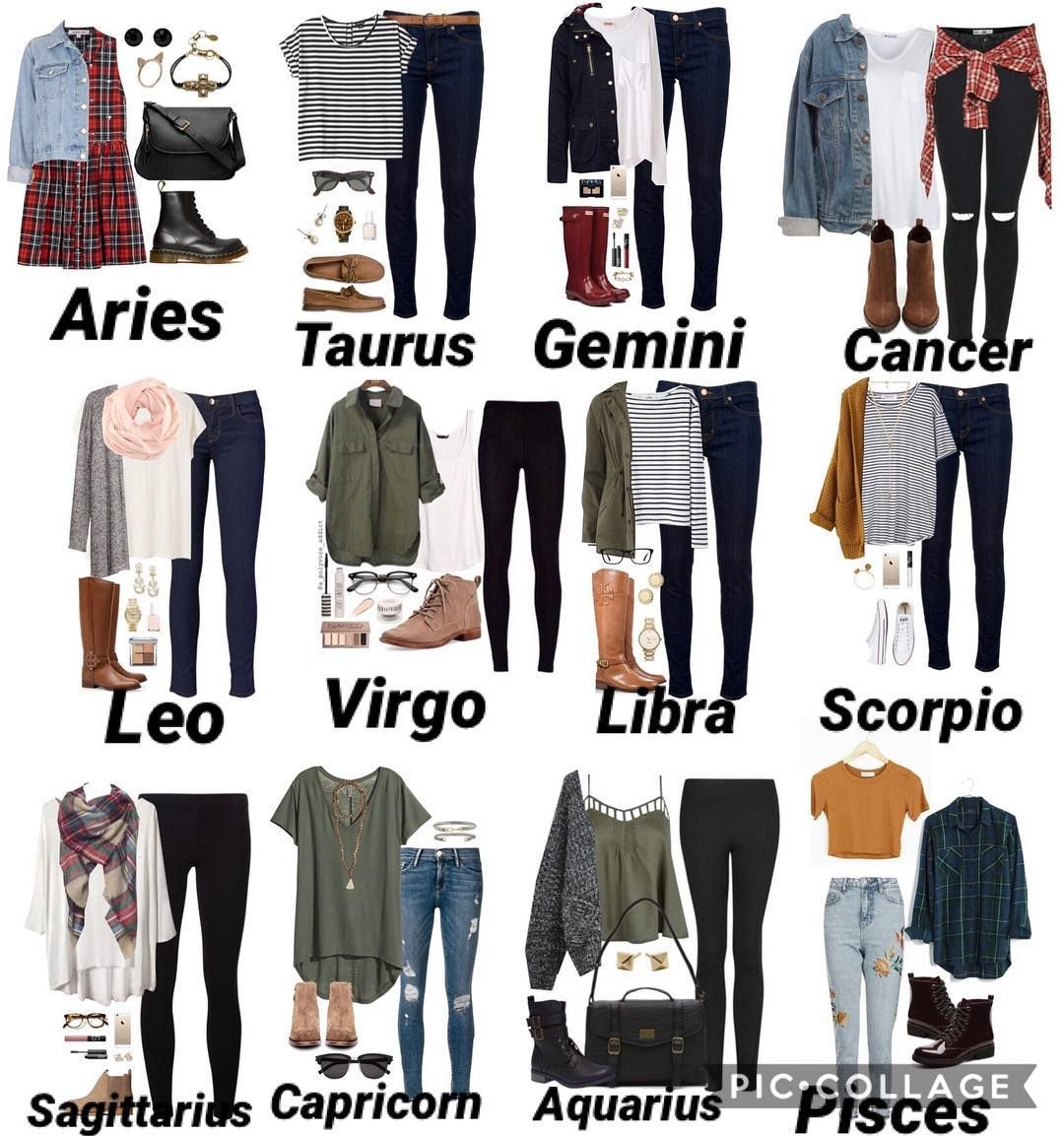 "ッZødiac.aesthetics_ッ on Instagram: ""The signs hipster outfits"