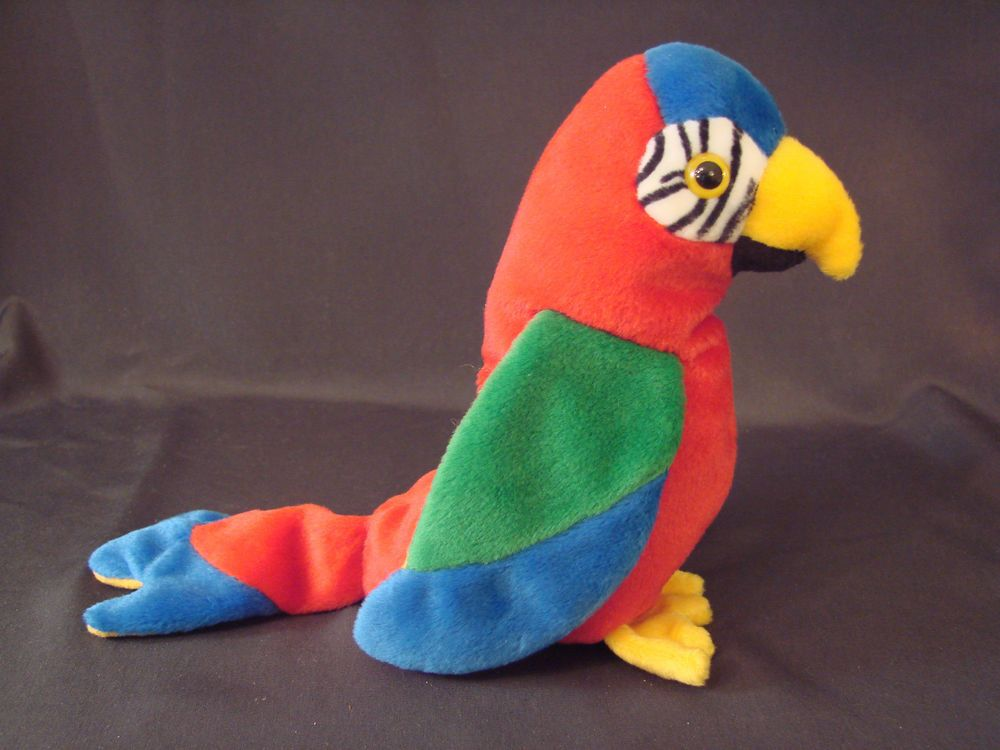 2dceb33974a  9 Ty Beanie Baby Toy Stuffed Animal 1997 JABBER the PARROT Retired w TAGS  Beautiful