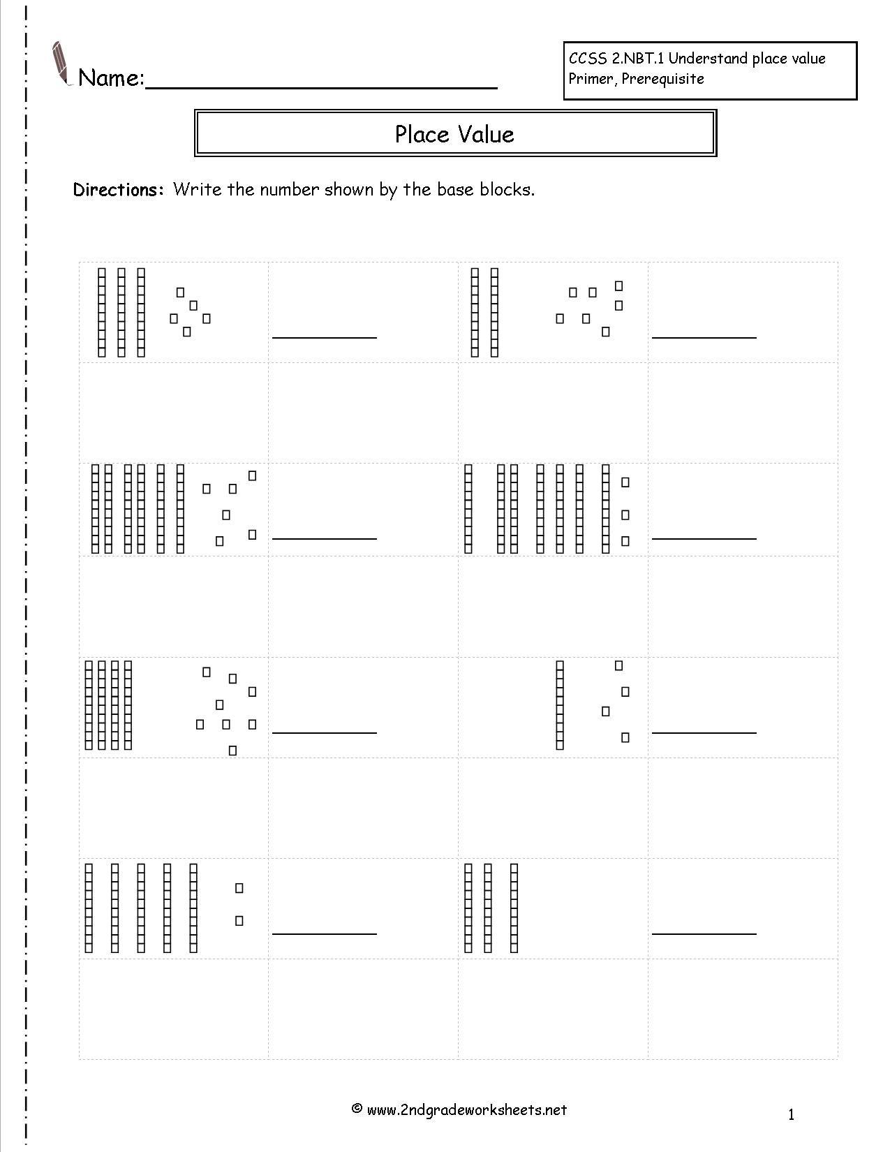 52 Base Ten Worksheets Back To School Kindergarten Math
