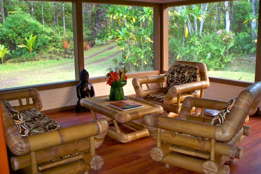 Living Room Jungle the living room sits among an old growth ohia forest and jungle