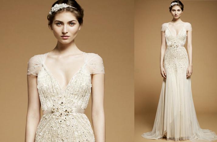 Vintage Wedding Dresses Photos Inspired Dress 2017 Jenny Packham Cap Sleeves