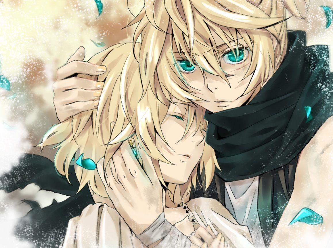 Len And Rin Anime Anime Boy Anime Guy Blue Hair