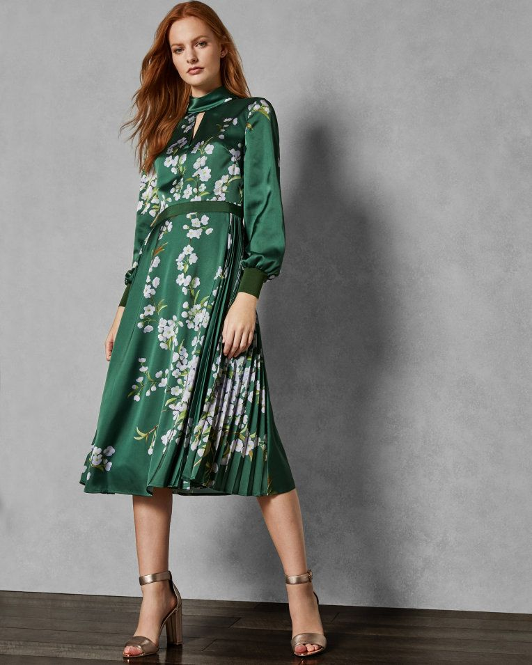 e81ba14a6 Ted Baker JHENNI Graceful satin midi dress in 2019