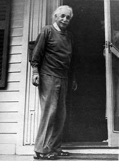 But after Elsa passed away and Einstein spent his last 20 years as a professor emeritus at Princeton, his clothing did become more irregular. He openly disliked wearing a suit and while already legendary for often going sockless, now he wore sandals. Luckily for Einstein, his life coincided with the invention of the cotton sweatshirt - for he was enamored of the soft warm comfortable garment. http://einsteinatoz.com/faq.shtml