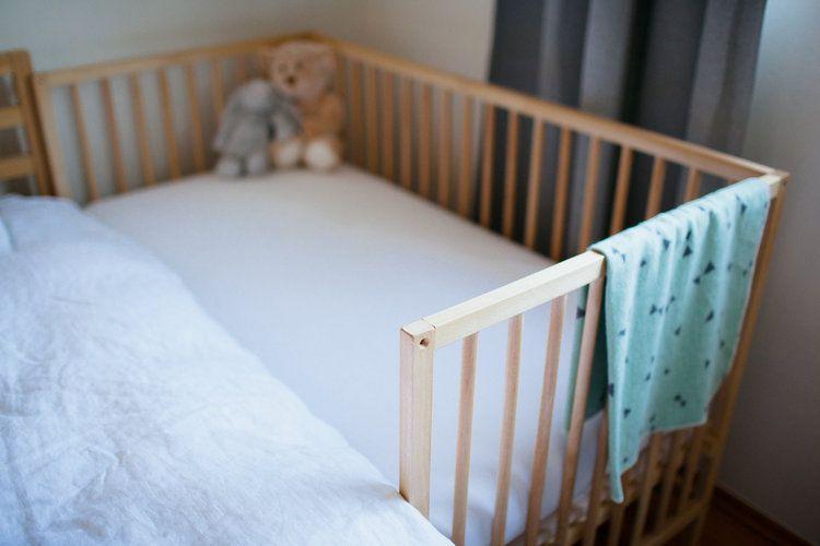 Diy Ikea Sniglar Crib Co Sleeper Sharing A Bedroom With Baby At