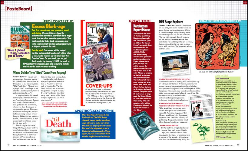 2 page magazine layout designing magazines blog for Designs magazine