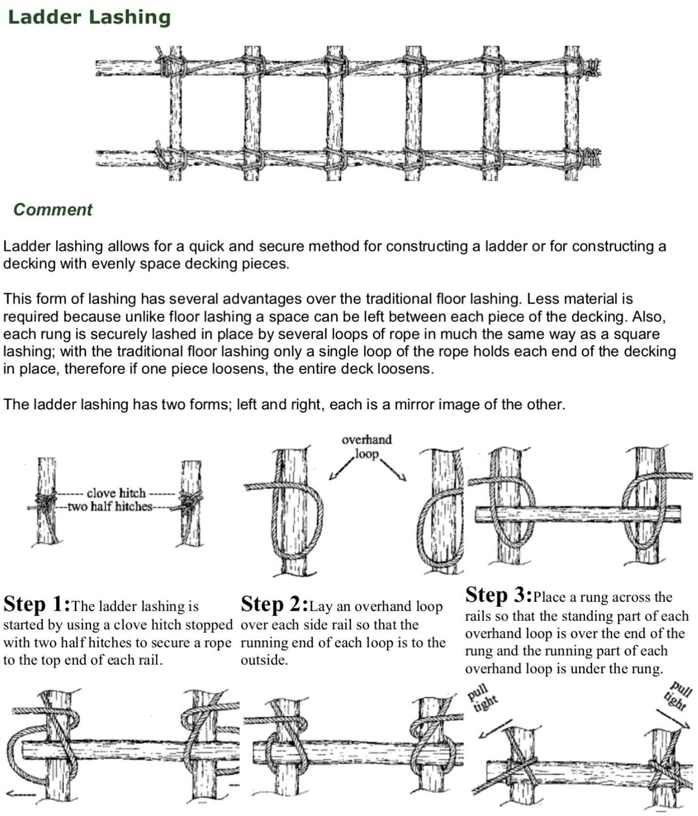 Cub Scouts Ladder Lashing | Scouts - Knots | Pinterest for Rope Ladder Knot  lp00lyp