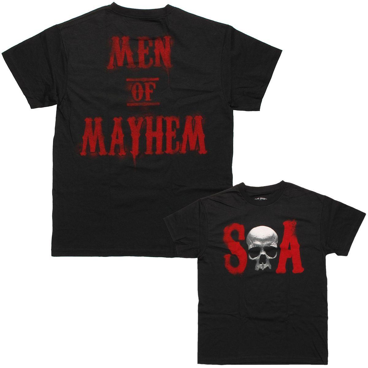 Sons Of Anarchy Soa Skull Men Mayhem T Shirt Shirts T Shirt Sons Of Anarchy