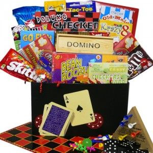 http://www.basketbollocks.com Art of Appreciation Gift Baskets Fun and Games Care Package Box.