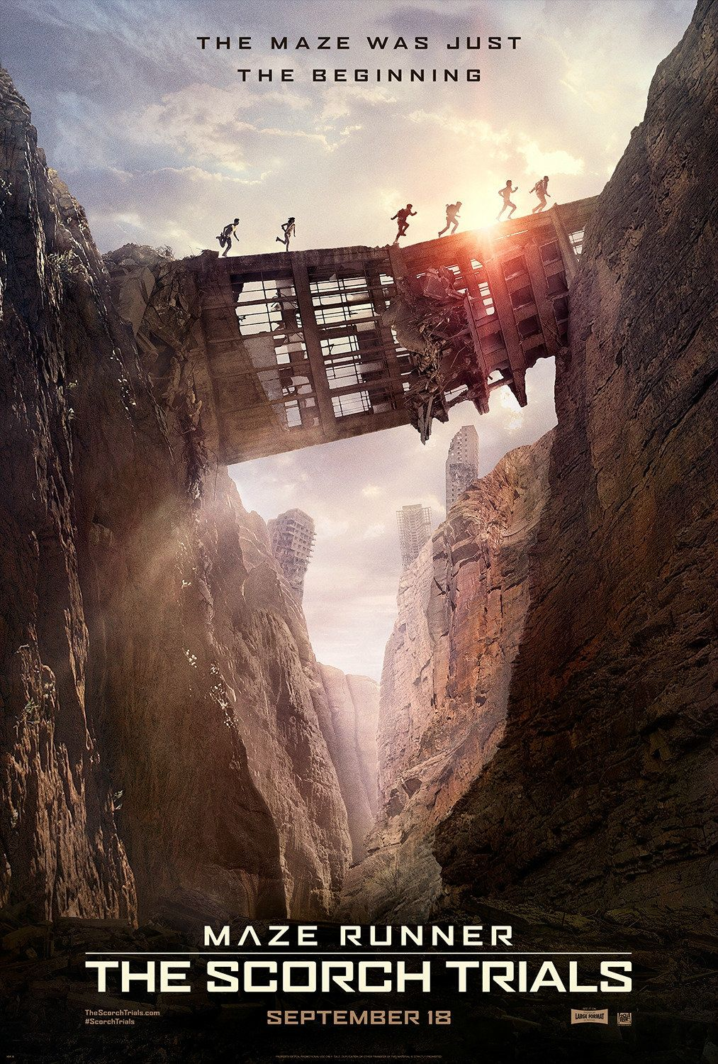 The Maze Runner The Scorch Trials. Lets hope they don't mess it up too bad!