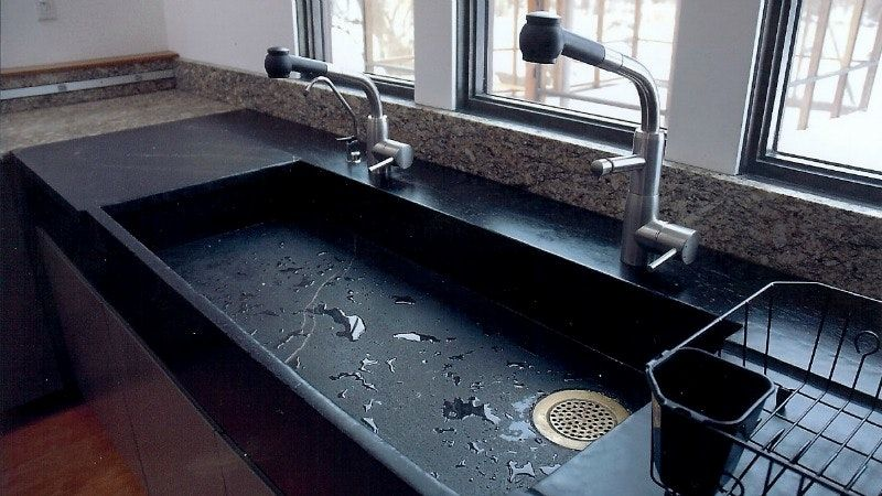 Schon Kitchen Countertop With Built In Sink Soapstone Slab With