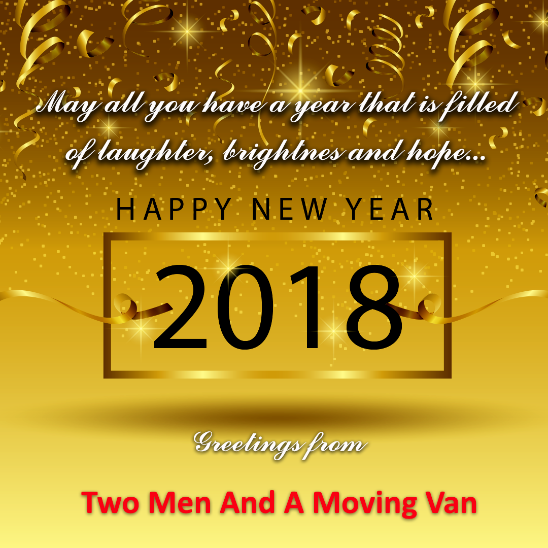 An Advance Greetings From Twomenandamovingvan Happy New Year