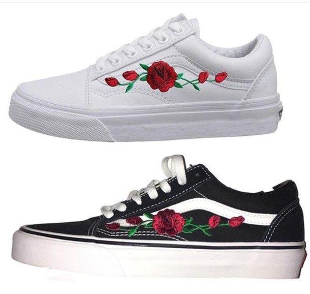 rose vans shoes