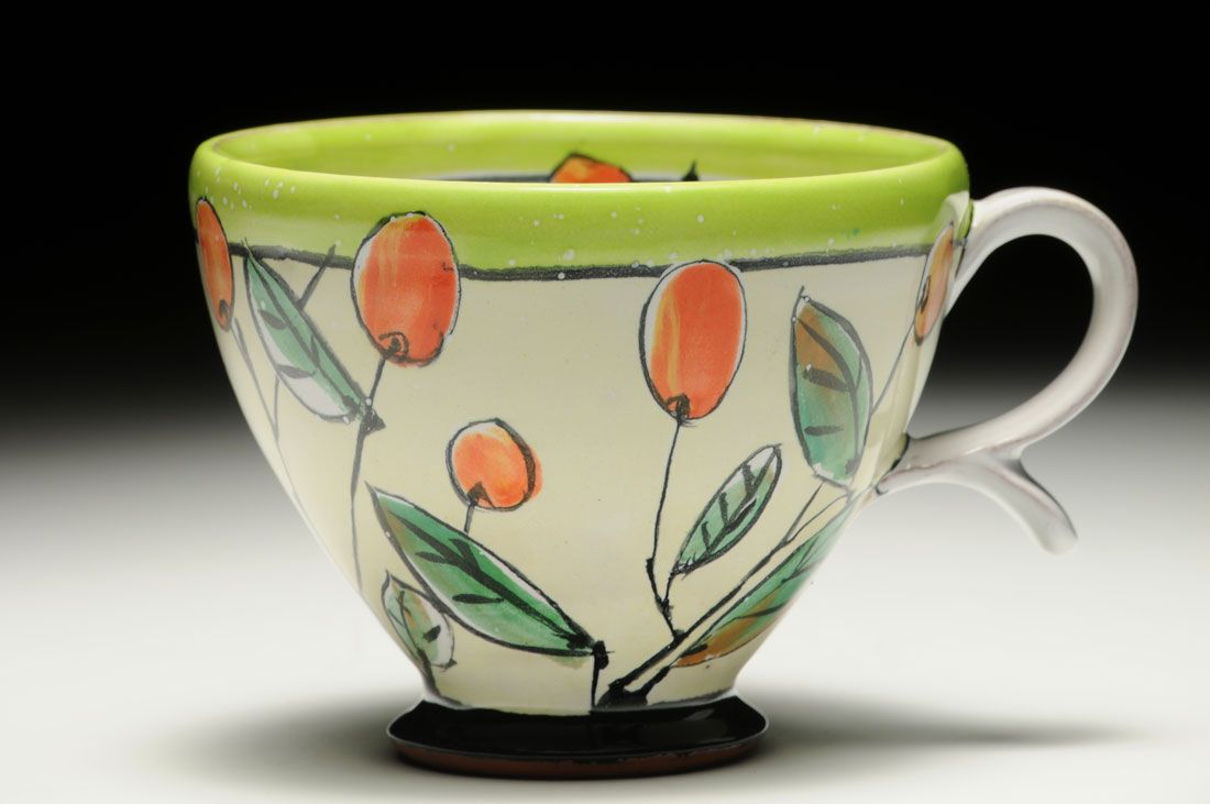 Sweet High Hanging Fruit Cup Linda Arbuckle Majolica On Terracotta, Thrown,  Electric Fired · Fruit CupsClay IdeasCeramic ...