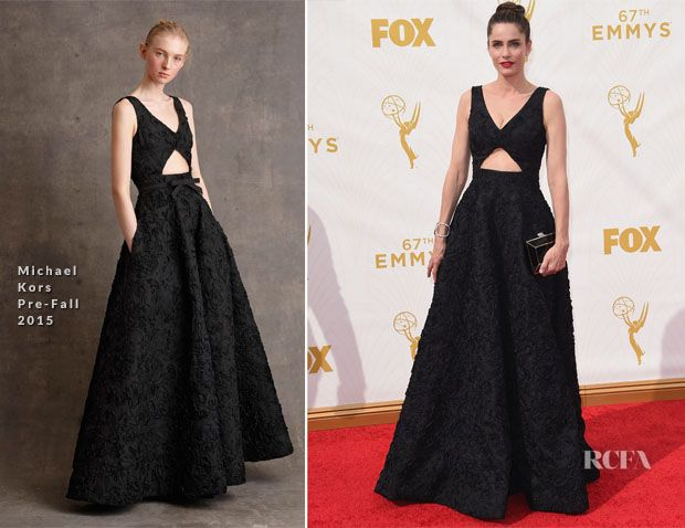 Amanda Peet In Michael Kors – 2015 Emmy Awards