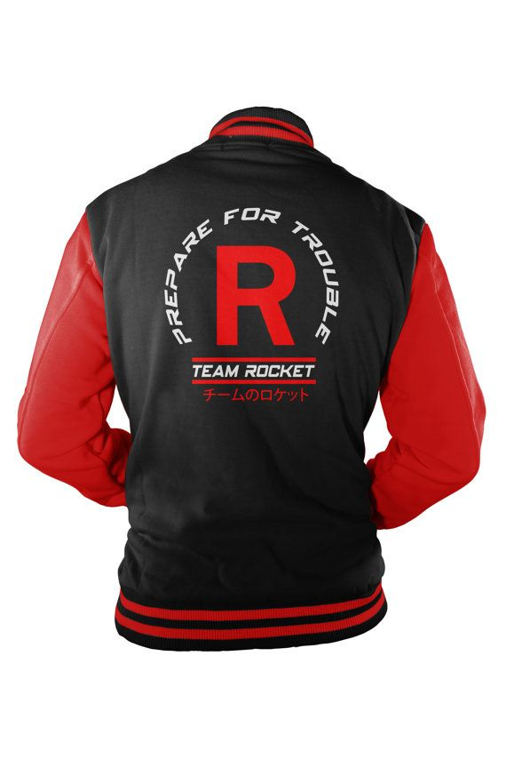 Team Rocket Varsity Jacket inspired by Pokemon SJFMMfJEJ3