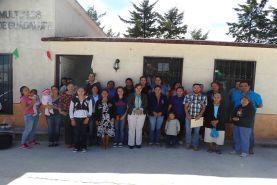 Landa de Matamoros, Qro. 16 de Febrero de 2016; 2 Grupos de mujeres, de las comunidades de la Yerbabuena y...
