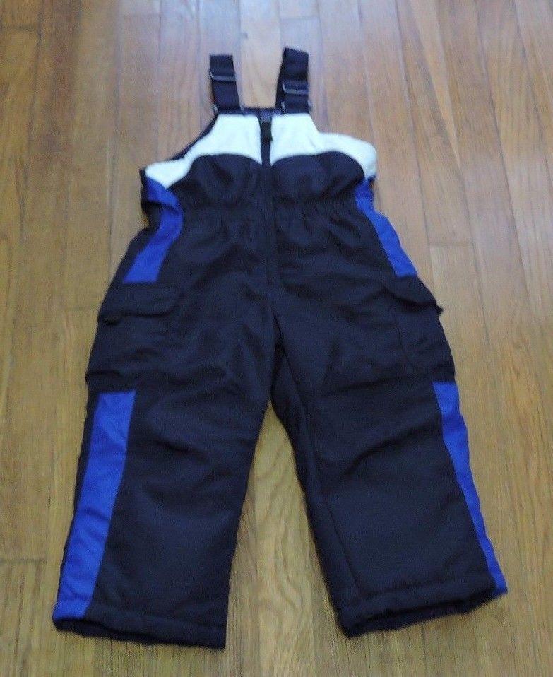 Zero Xposur Blue White Snow Ski Bib Overalls Pants Size 3t