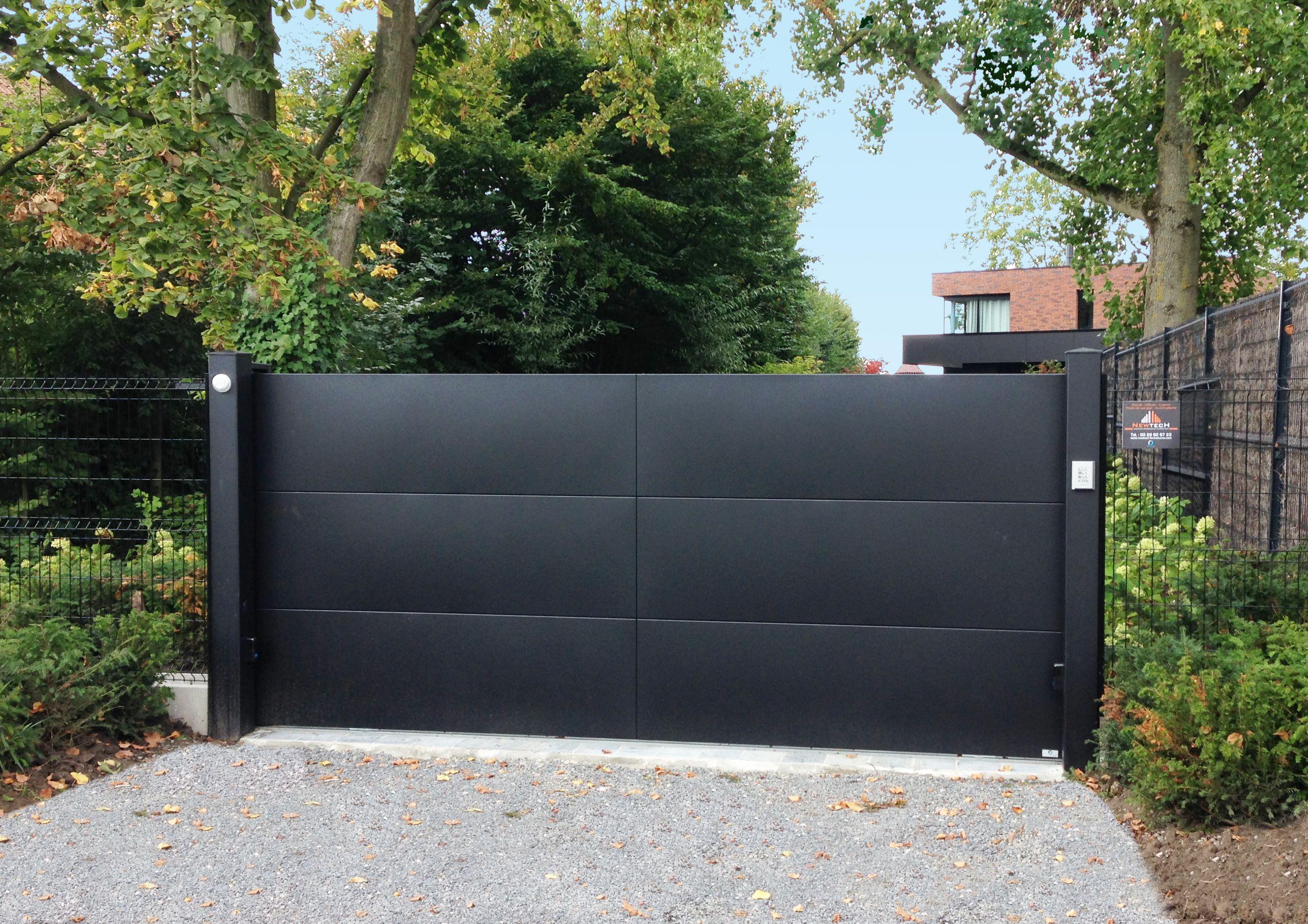 Portail 2 Vantaux Aluminium Soude Portail 2 Vantaux Portail Maison Portail