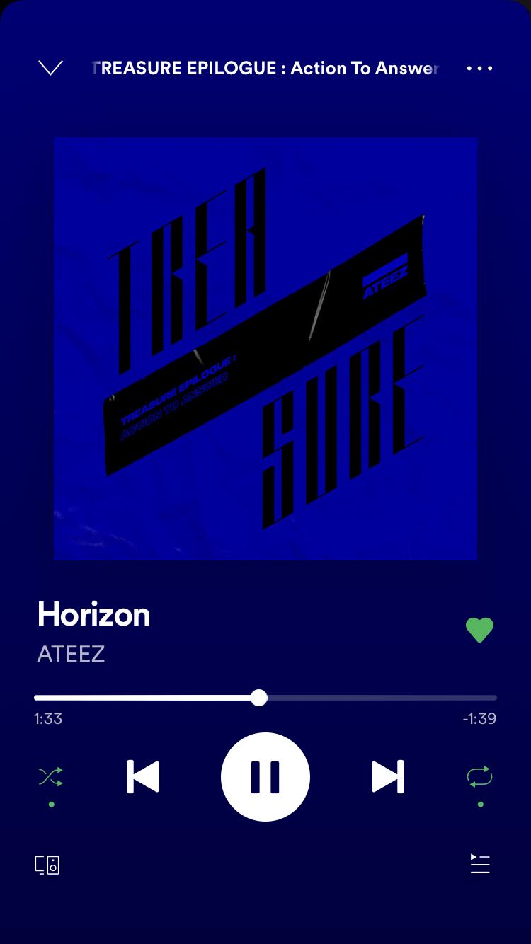 Horizon ATEEZ in 2020 Song playlist