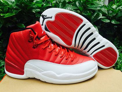 Authentic Cheap Air Jordan 12 Wholesale Jordan 12 Retro Red White  Basketball Shoes Red White Sneakers c21bed41b