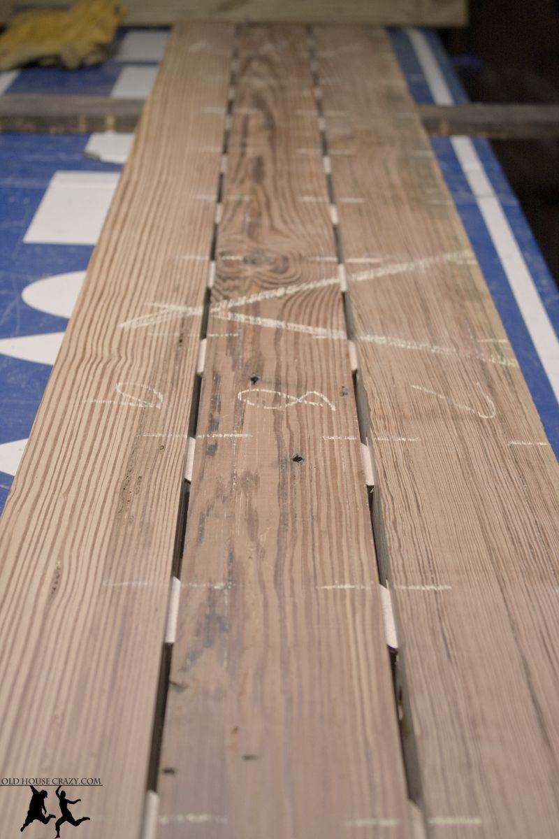 Old House Crazy   Reclaimed Heart Pine Farmhouse Table   DIY   07