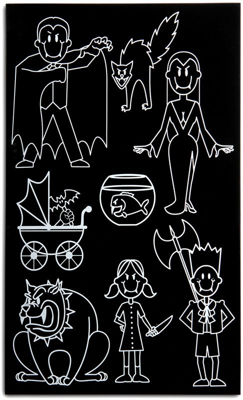 ThinkGeek Vampire Family Car Decals Cameo Silhouette - Family car sticker decalsbest silhouette for the car images on pinterest family car