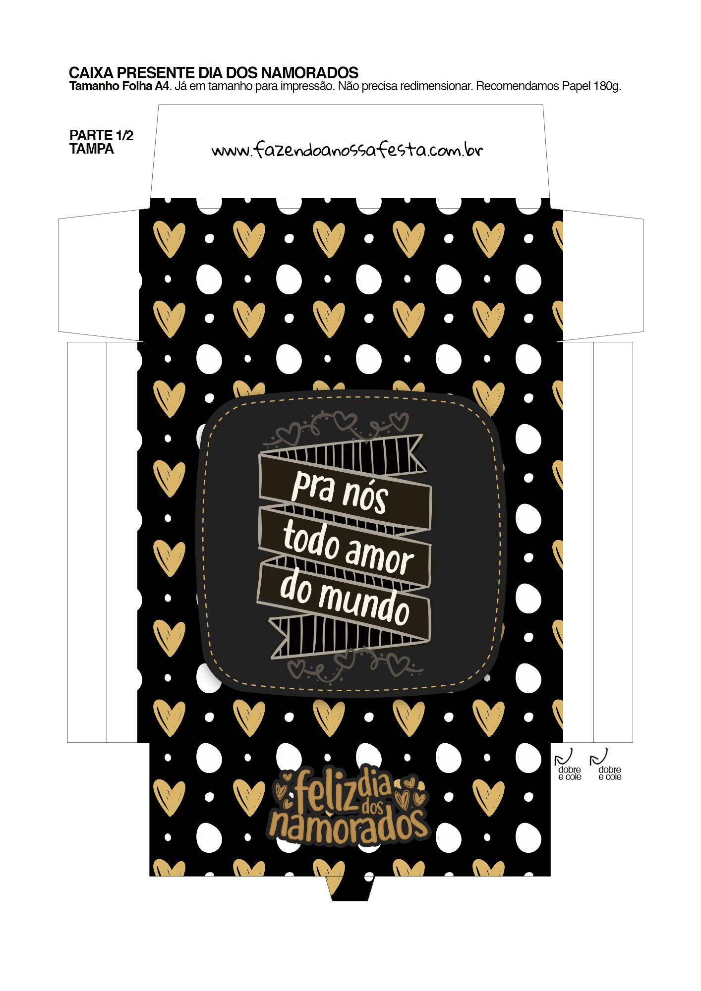 Caixa Dia Dos Namorados Com Letras De Musicas E Temas Pro Nos Todo