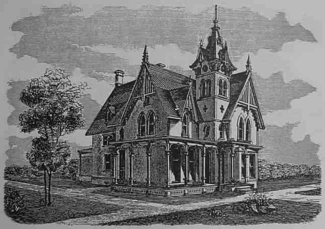 While The Exterior Decor Is Definitely Not For Me Scrap The Tower Please The Plan Is Very Practical Gothic House House Design Pictures Vintage House Plans