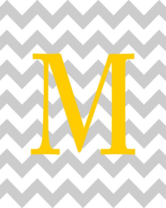 Chevron Background Your Initial On Chevron Background House