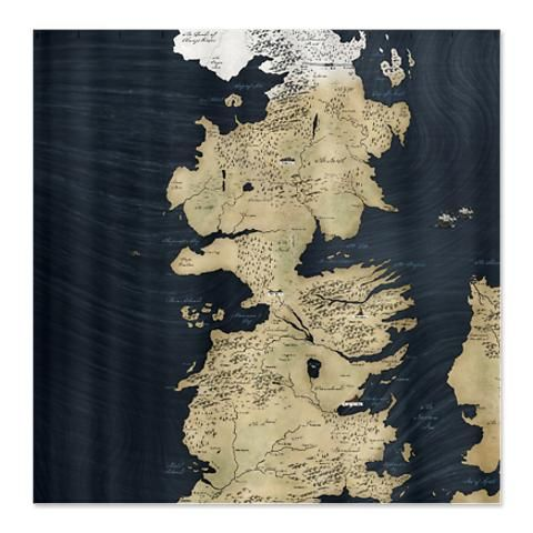 The Custom Shower Curtain I Designed On Cafepress Com Game Of Thrones Map Game Of Thrones Westeros Game Of Thrones Poster