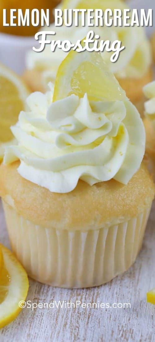 This fresh lemon buttercream frosting recipe is one of our favorite frostings ever. It's great on l