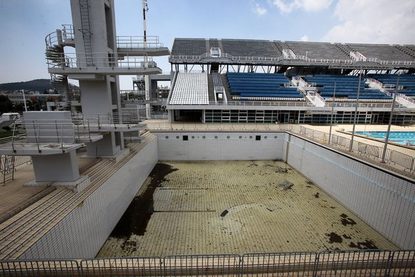 2004 Athens Olympics Abandoned Diving Venue Abandoned Places Olympic Sites Olympic Venues