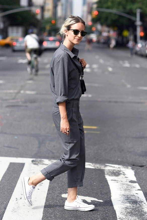 7 Casual Cool Ways To Wear A Utility Jumpsuit Nelis3pinterest