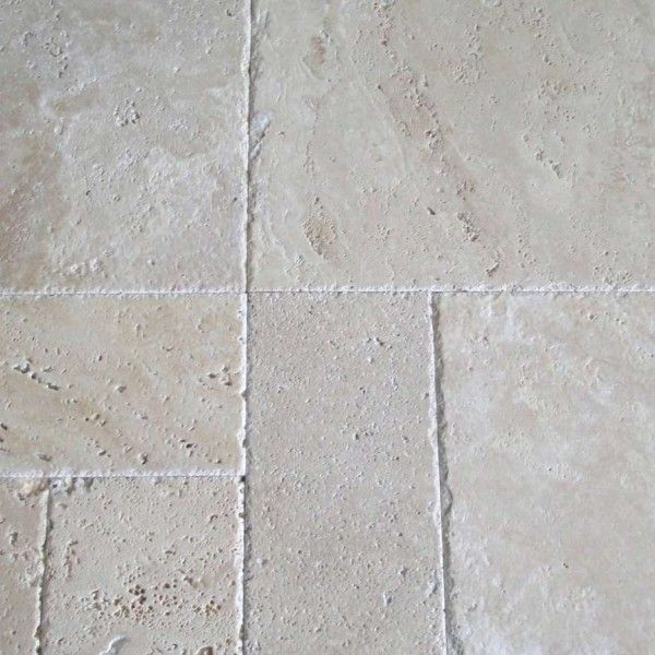 Chiseled Ivory Brush Versaille Pattern Stamped Concrete