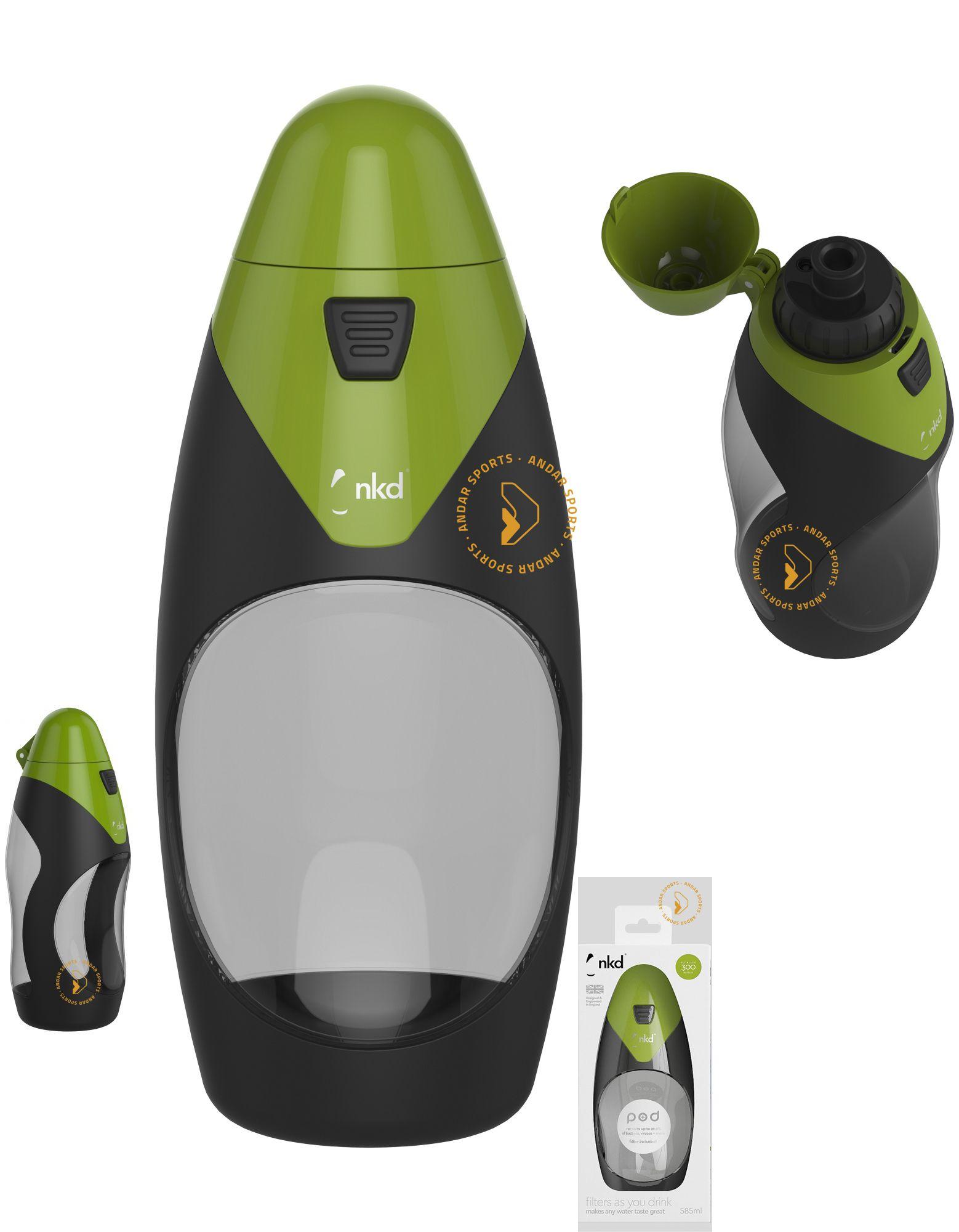 unique design new design latest fashion nkd POD + Botella con filtro incorporado 585ML. Botella de ...
