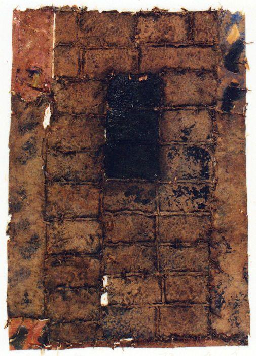 D-25.Aug.1992 / 90x62cm  Mixed media/paper making,painting, collage  林孝彦 HAYASHI Takahiko 1992