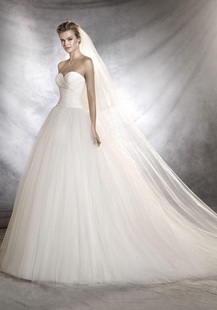 pronovias   marvelous princess wedding dress   designer bridal room