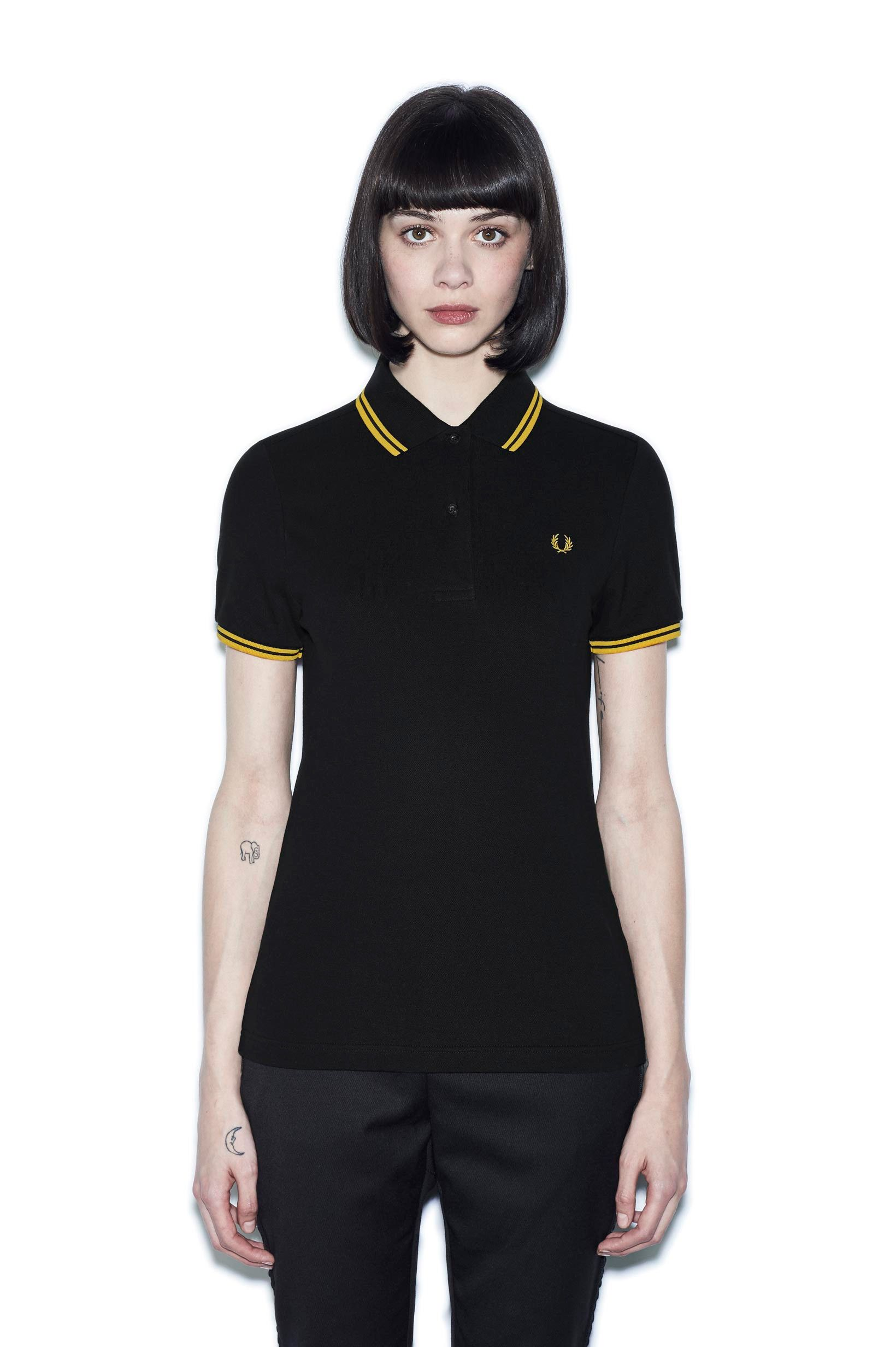 d8c7115e5c82 Fred Perry - G3600 Black / Yellow / Yellow | polo in 2019 | Fred ...