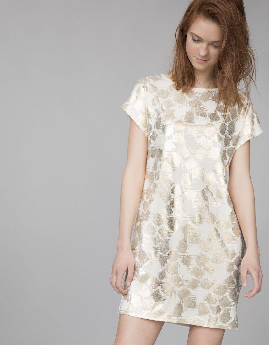 Vestido punto fino   Blanco
