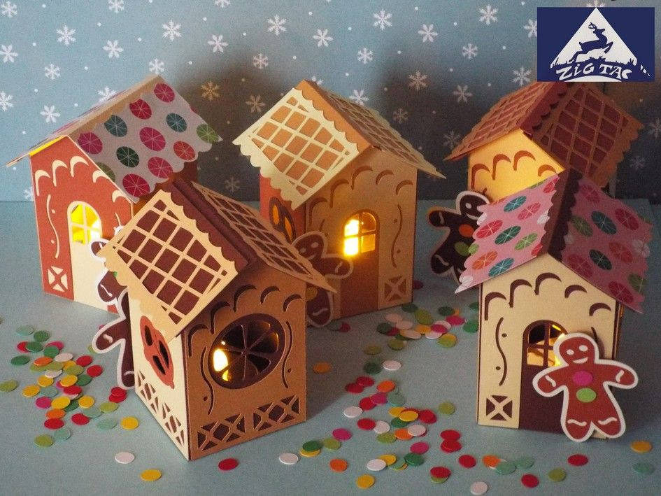 Free Gingerbread House/Lantern/Chocolate box Cut File. You