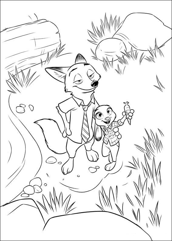 Zootopia Coloring Pages 7 | Coloring Pages | Pinterest | Personajes ...