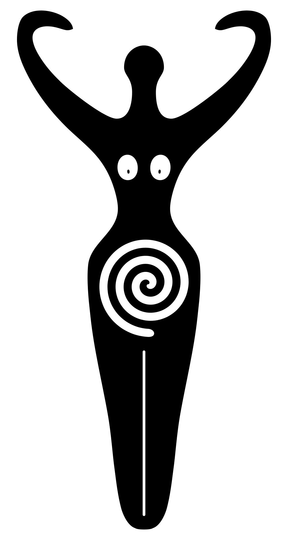 A Spiral Goddess Symbol Of Modern Neopaganism Used By The Goddess
